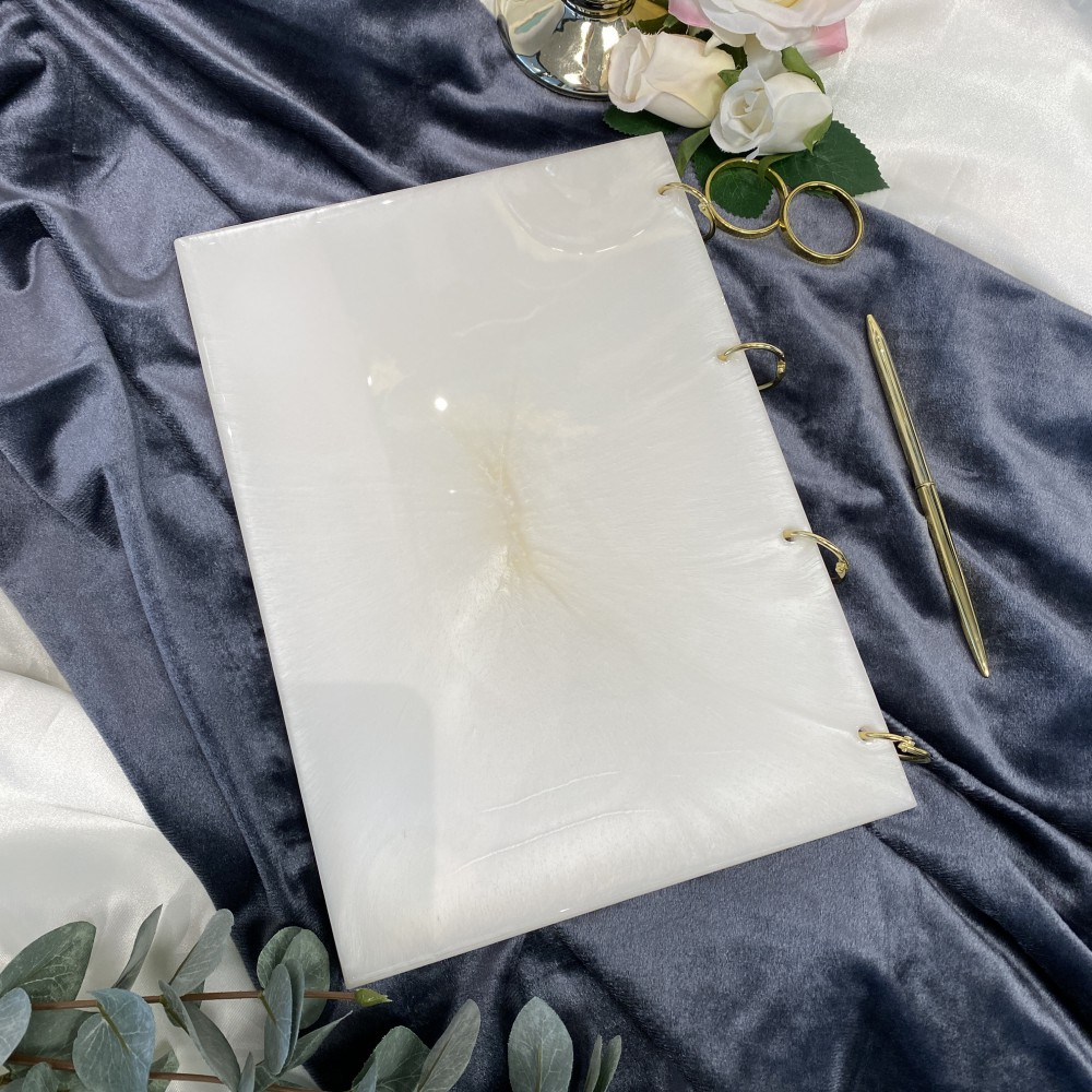 Guest book Luxurious White 2 L