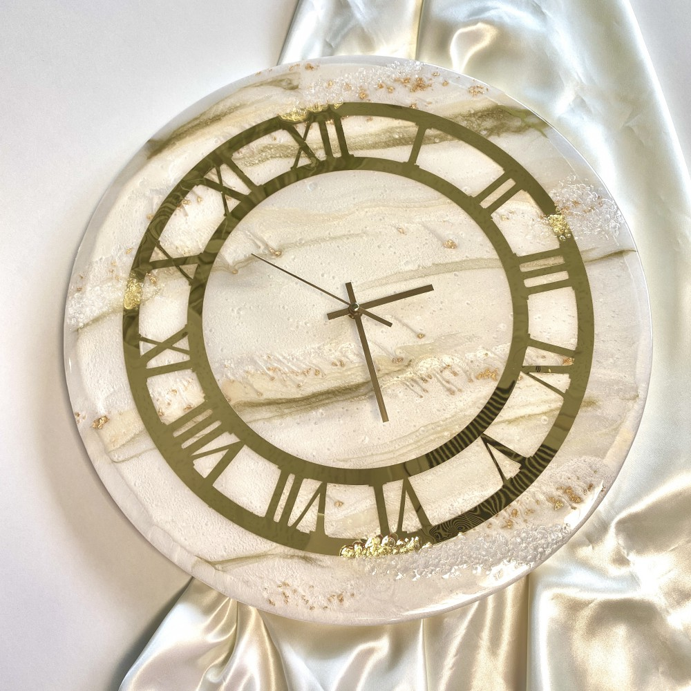 Resin wall clock Time for elegance