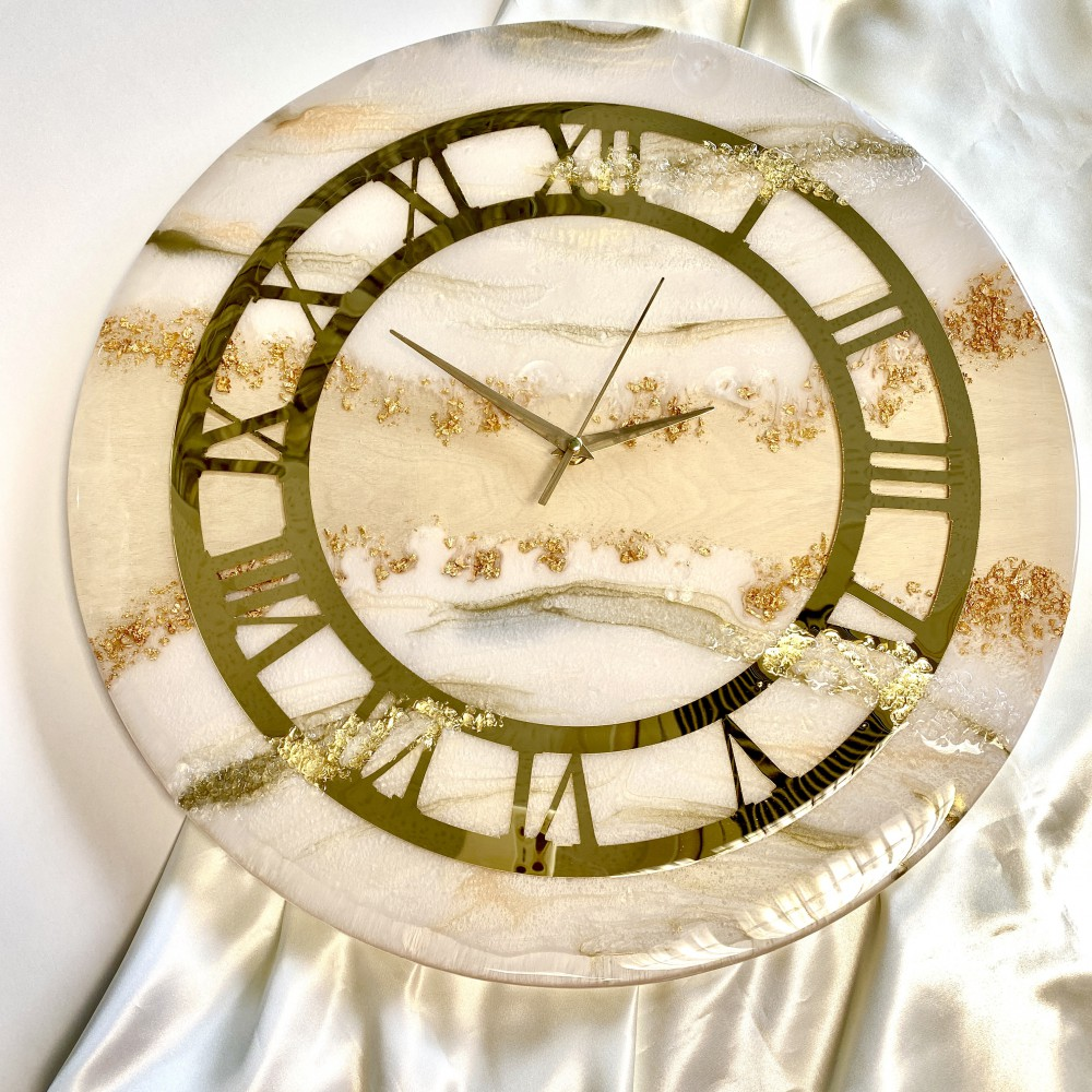 Resin wall clock Time for luxury