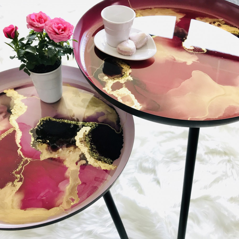 Resin Coffee Table Set
