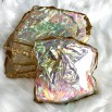 6 resin opal coaster Gold