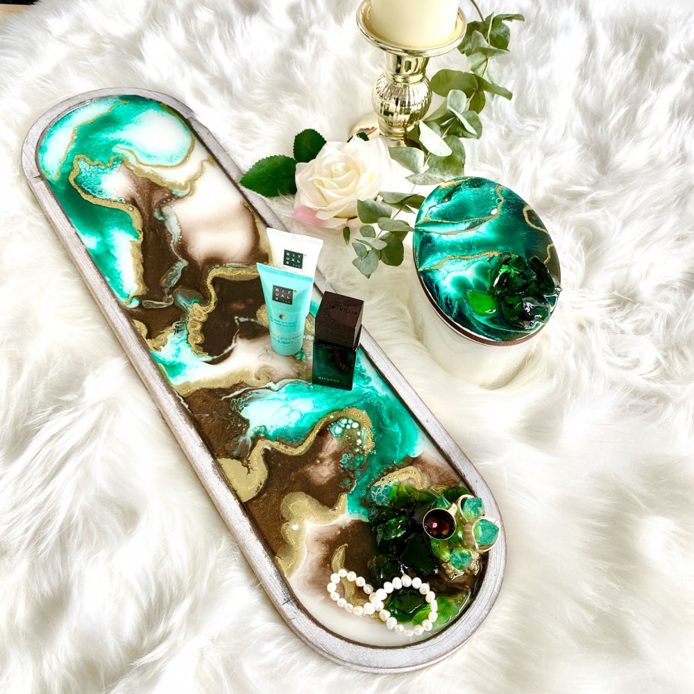 resin tray Emerald Rhapsody I