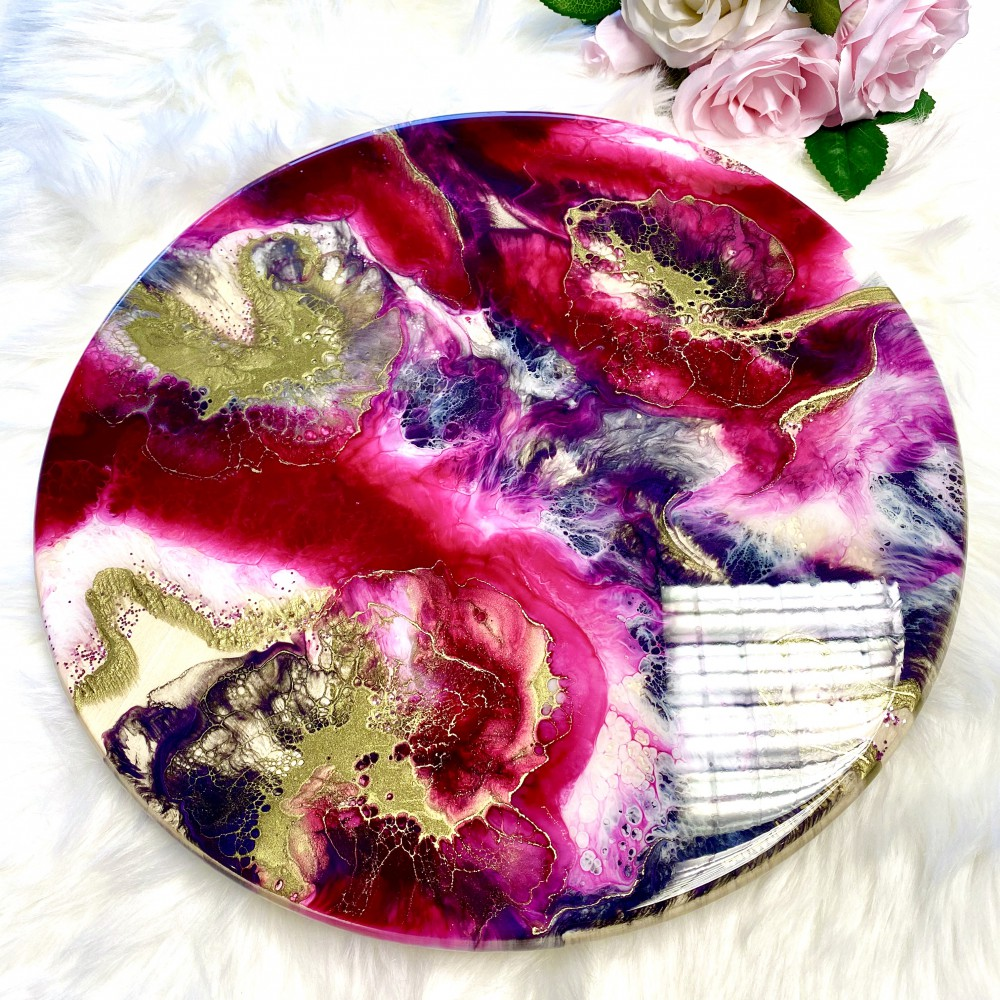 Resin Servingplate Magenta Love