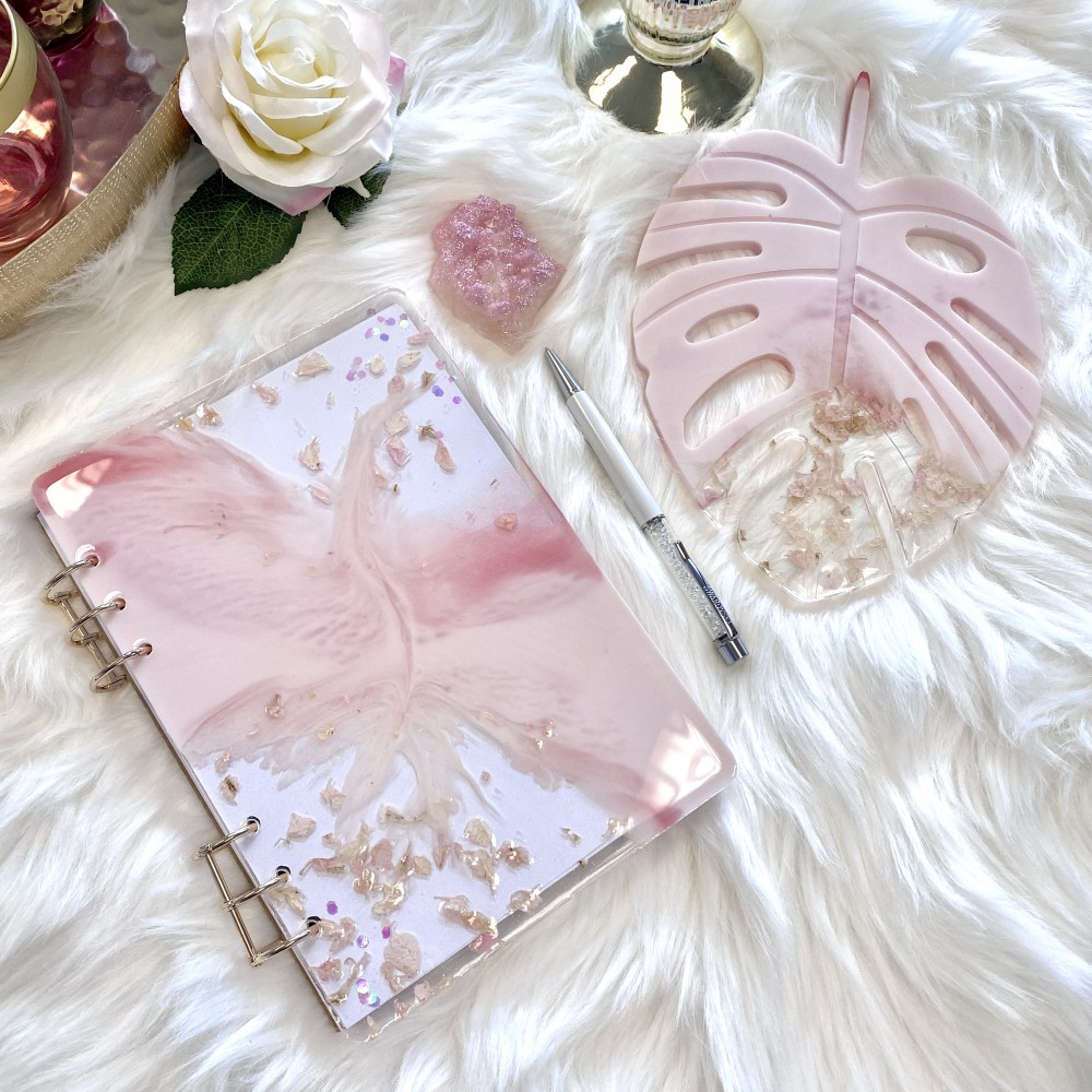 Resinbook blush pink