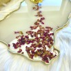 Resin tray creamy rose petals