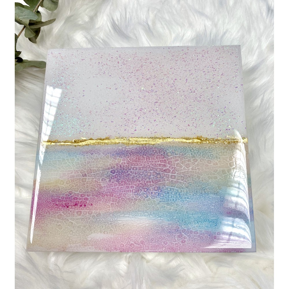 "Resin artwork ""Pasteldream 1"""