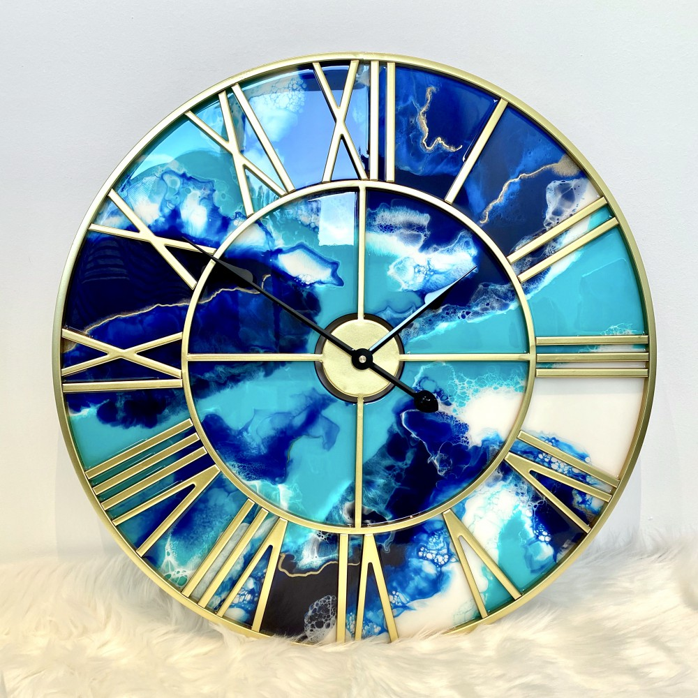 Resin wall clock Blue hour
