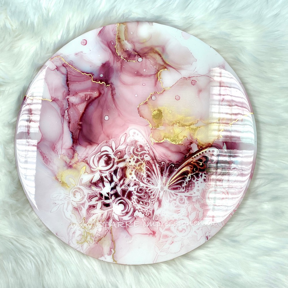 Resin artwork Pink Butterfly