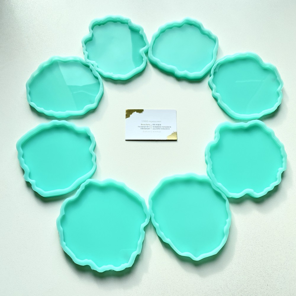 Silicone molds resin coaster Agate design