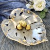 "Resinbowl Monstera champagner gold leaf (10"")"