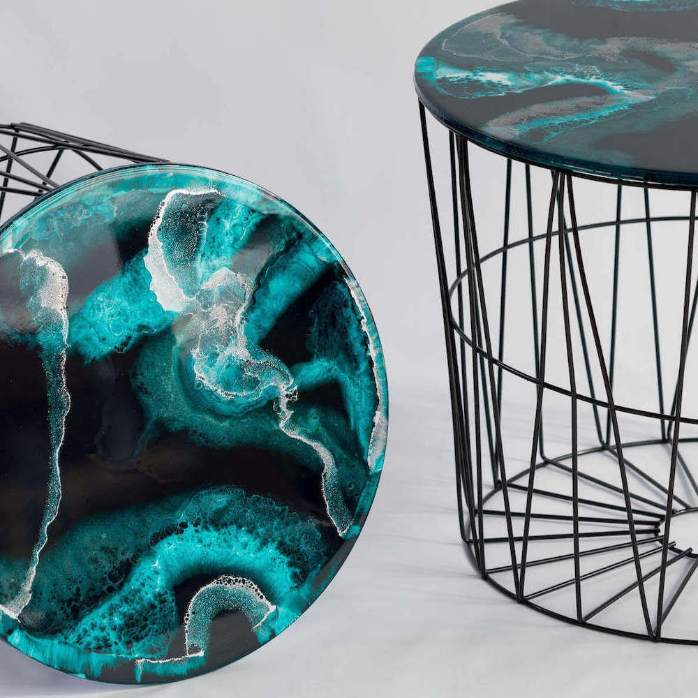 -Sold- Resin side table set