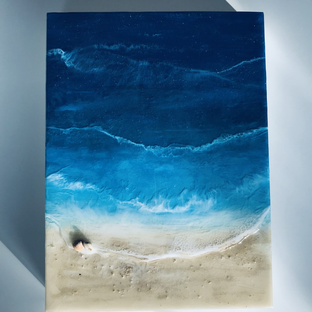 Resin artwork Beach